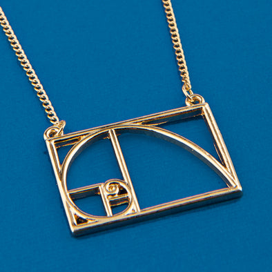 Golden Ratio Gold Tone Necklace