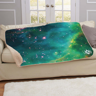 IFLS Mint Galaxy Sherpa Blanket