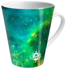 Mint stars galaxy latte mug