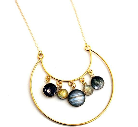 Galilean Moons of Jupiter Necklace