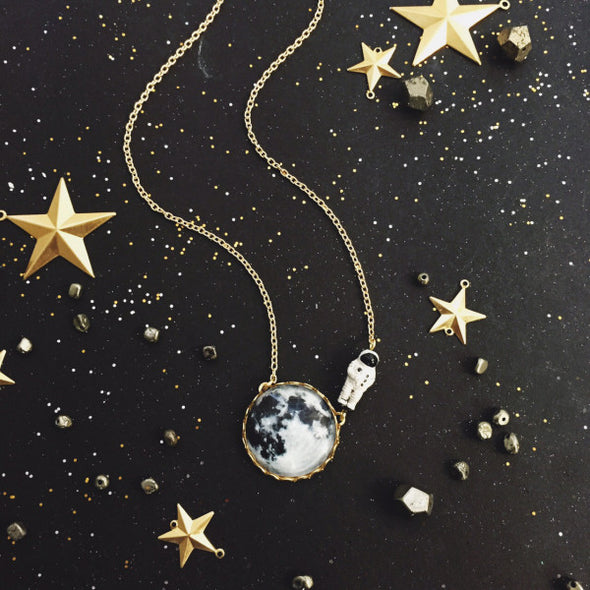 Moonwalk Outta Here Necklace