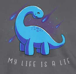 Brontosaurus My Life Is A Lie T-shirt