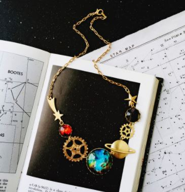 It's About Space-Time Space Necklace