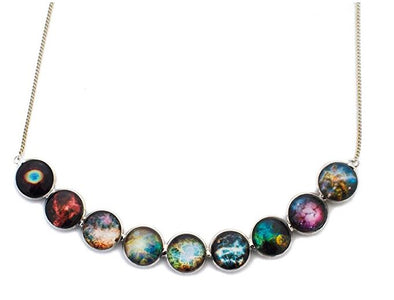 Nebula Rainbow Statement Necklace
