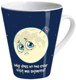 Sad moon latte mug