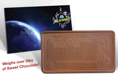 Space Periodic Table Solid Milk Chocolate Block - 2lbs of Sweet Chocolate!