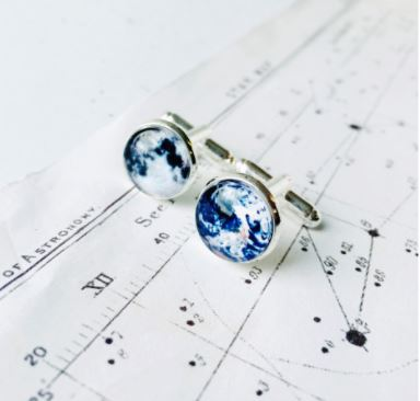 Earth and Moon Cufflinks