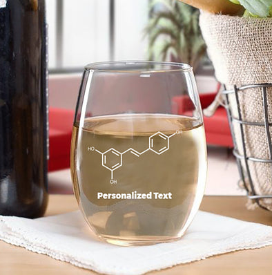 IFLScience Personalized Stemless Resveratrol Wine Glass