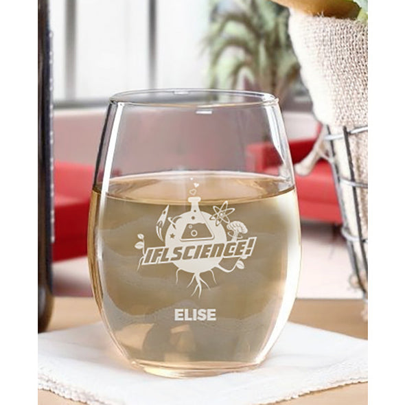 IFLScience Personalized Stemless Wine Glass
