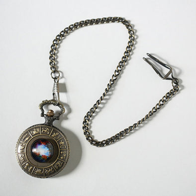 Orion Nebula Zodiac Pocket Watch
