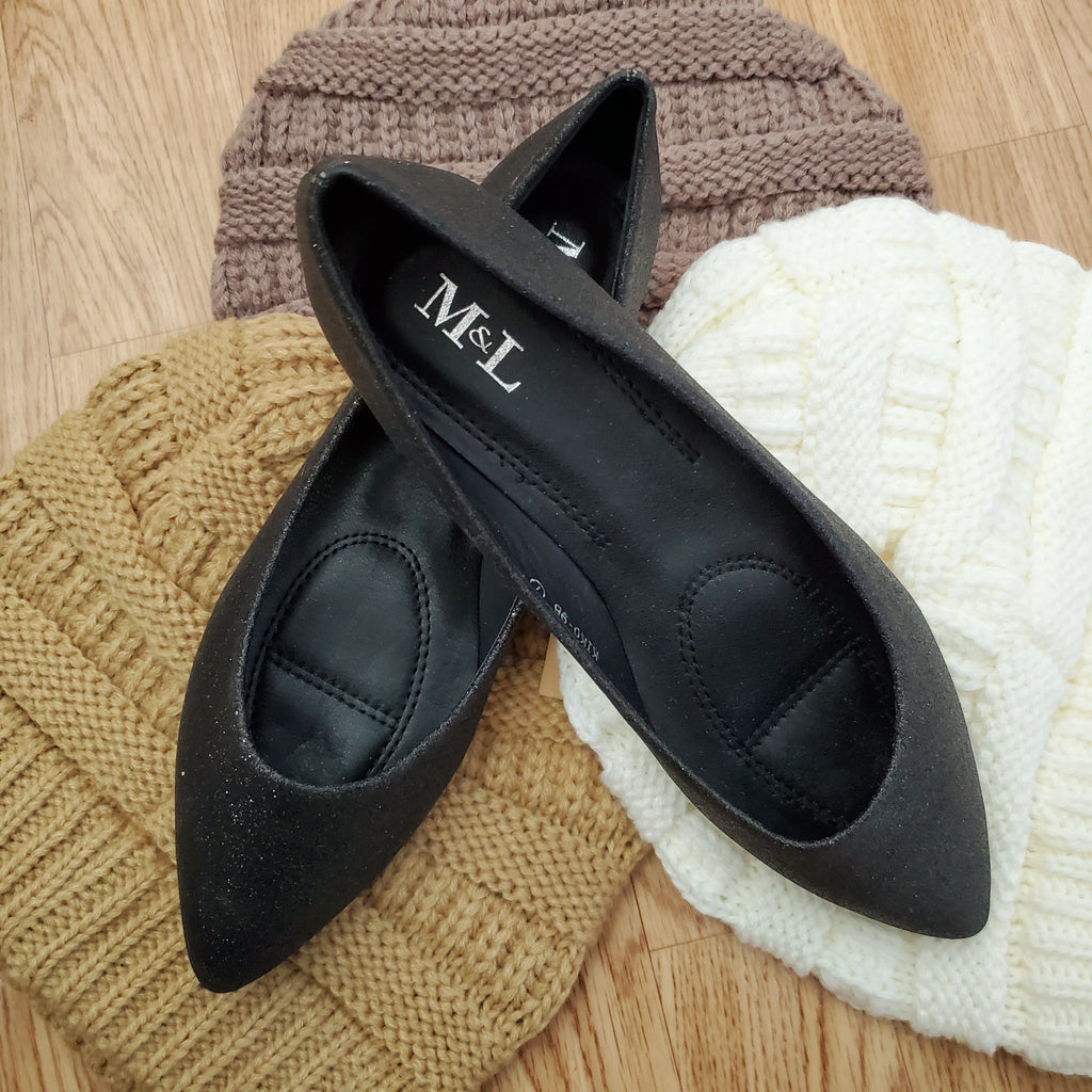 The Cinderella Flat in black
