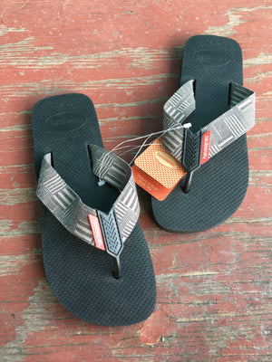 Men's Deep Grey Pattern Sandals