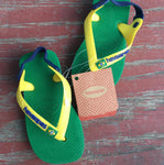 Boy's Green Multi Colored Sandals