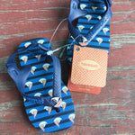 Blue Striped Sail Boat Sandals