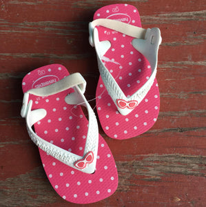 Pink & White Polkadot Sandals