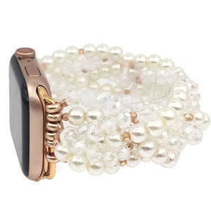 Pearl & Crystal Beaded Apple Watch Band