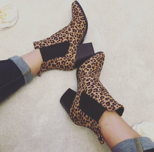Rebel Soul Booties in Leopard