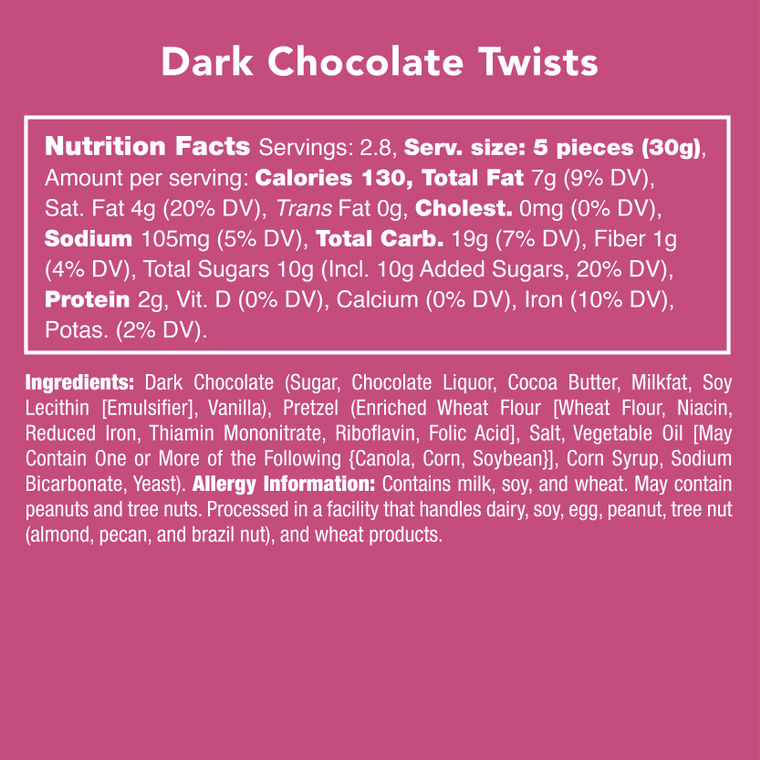 Dark Chocolate Twists