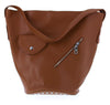 TRAPEZOID BROWN HANDBAG