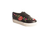 FLORAL BLACK EMROIDERED SNEAKERS