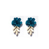FLOWER BLUE BEACH EARRING