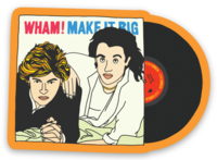 WHAM! Sticker