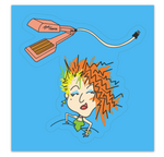 Hair Crimper Sticker!