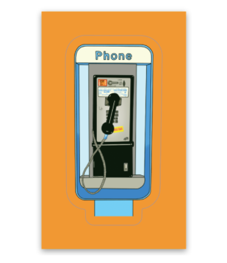 Pay Phone sticker!
