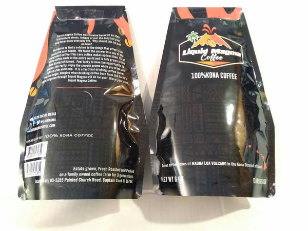 100% KONA COFFEE. 6OZ Pouch