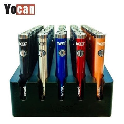 YOCAN B-SMART 320MAH VV PEN STYLE TWIST BATTERY MOD - DISPLAY OF 50 - ASSORTED COLORS