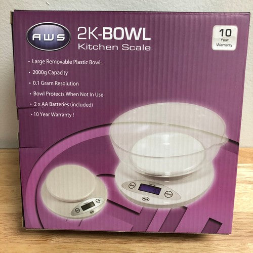 AWS 2K-BOWL KITCHEN SCALE