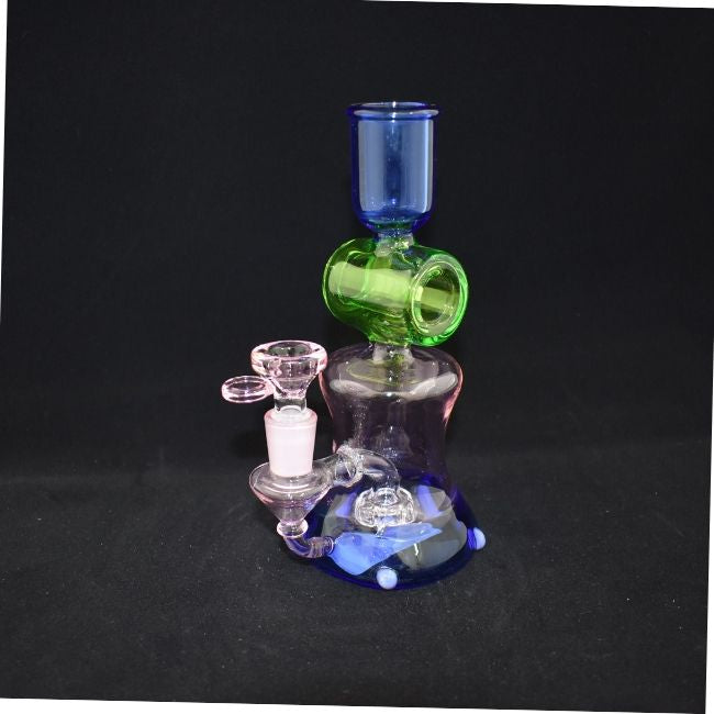 "GLASS MULTI DESIGN SPITAL MATRIX 8"" INCH GLASS WATERPIPE (WP018)"
