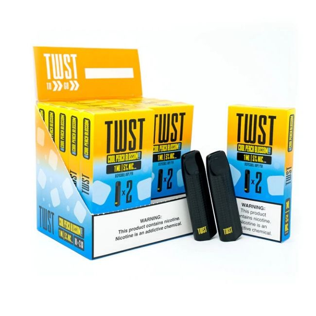 TWST 1ML 240MAH PREFILLED DISPOSABLE SALT NIC - PACK OF 2 - DISPLAY OF 10