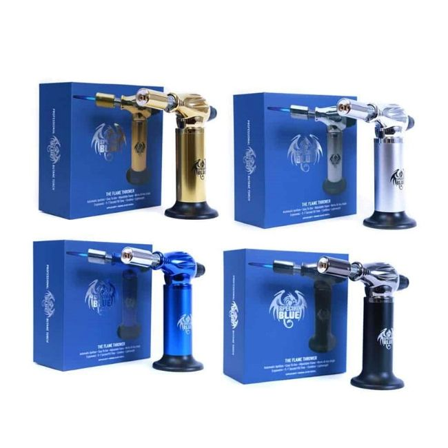 SPECIAL BLUE FLAME THROWER DUAL FLAME TORCH -ASSORTED COLOR