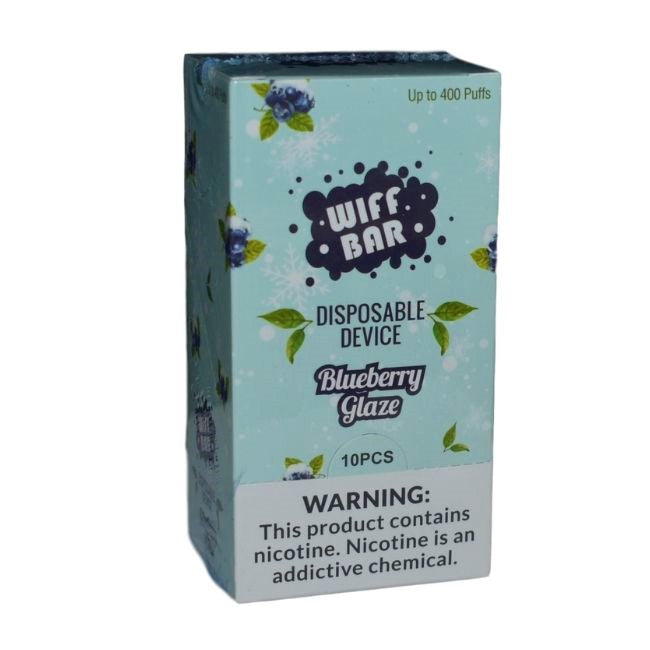 WIFF BAR DISPOSABLE DEVICE 5.0% NIC SALT DISPLAY OF 10CT