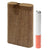 NATURAL WOODEN DUGOUT WITH METAL CIGARETTE CHILLUM & POKER (DUGSPH)