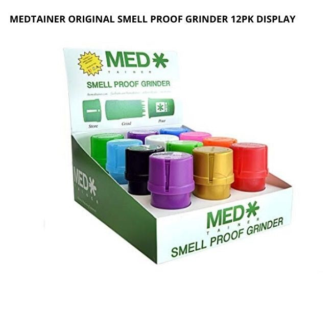 MEDTAINER ORIGINAL | PREMIUM SMELL PROOF GRINDER 12PK DISPLAY