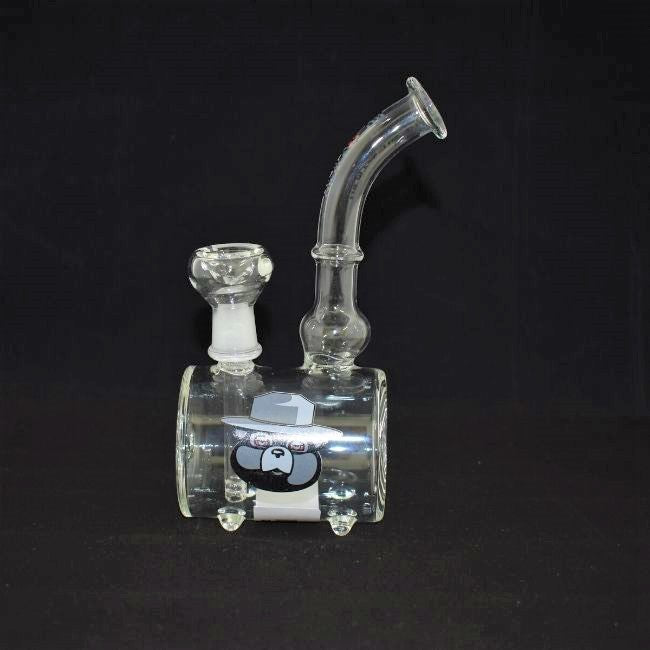 CYLINDRICAL DESIGN GLASS  WATERPIPE (WP382)