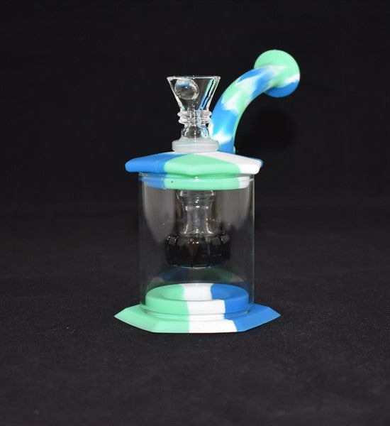 SILICON WATERPIPE WITH GLASS SHOWERHEAD SIL3
