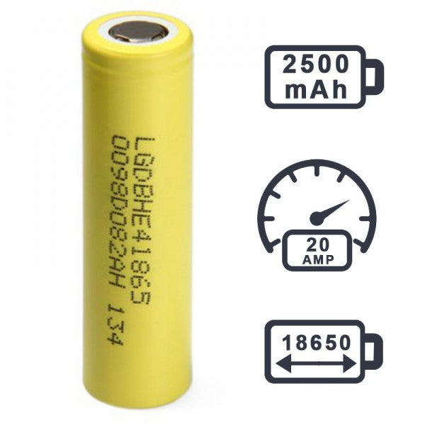 LG HE4 18650 35A BATTERY