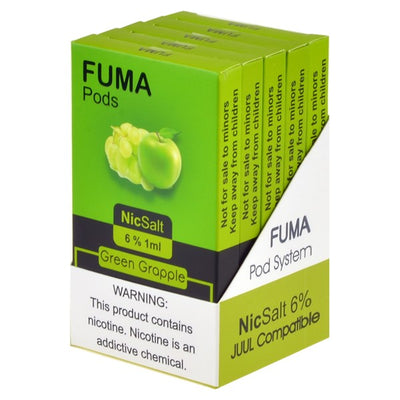 FUMA 6.0% SALT NIC PREFILLED 1ML COMPATIBLE  PODS  DISPLAY OF 5 PACKS