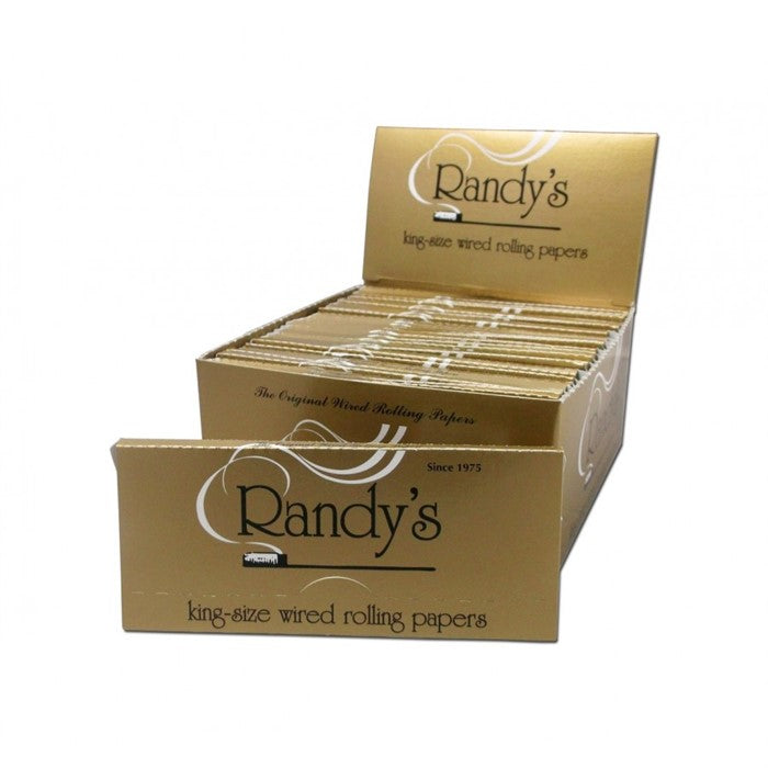 RANDY WIRED ROLLING PAPERS 24 KING SIZE SHEETS