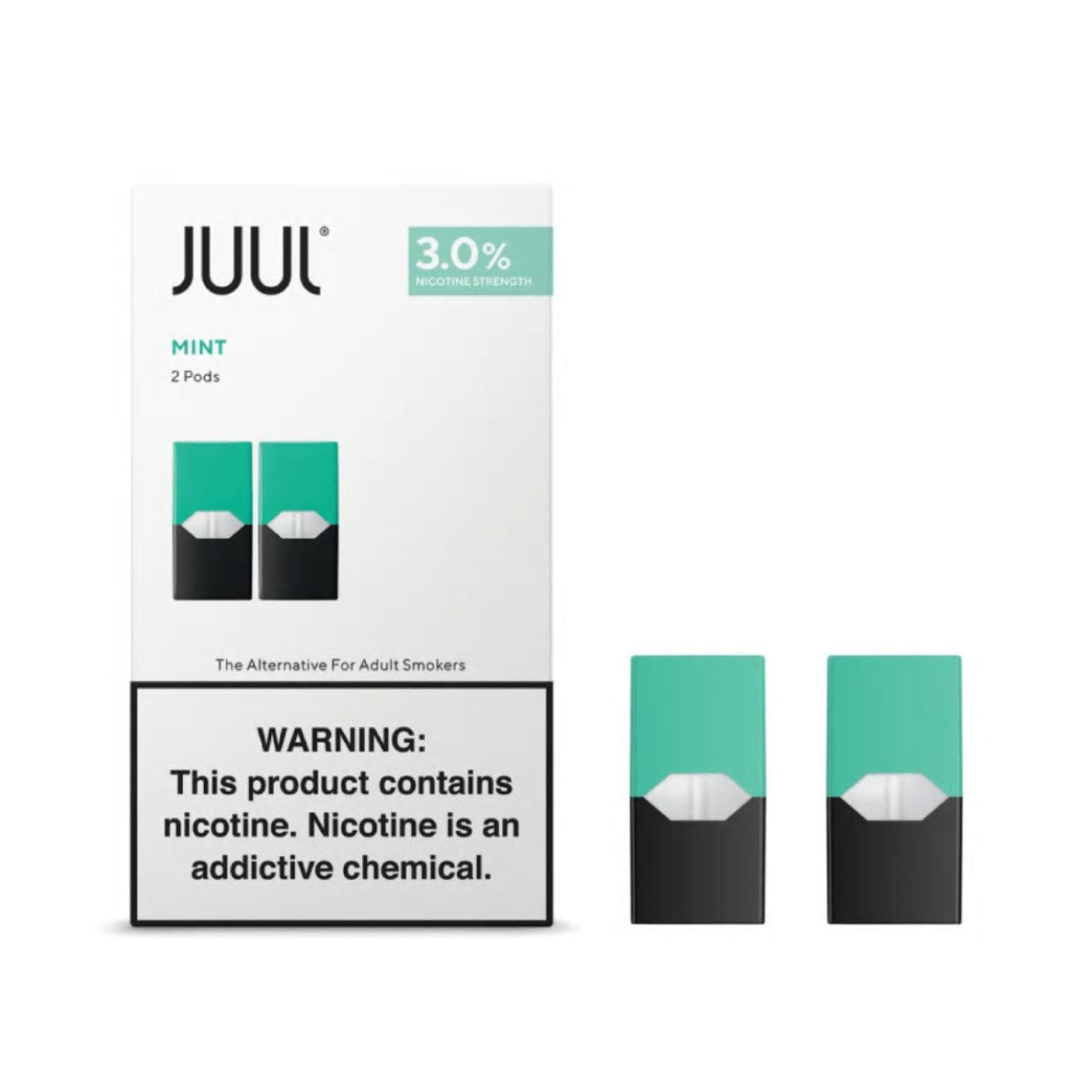 JUUL 2-Pack Pre-filled Replacement 3% Nicotine Salt Pods - Mint