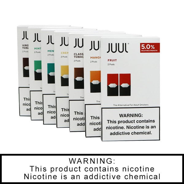 JUUL 2-PACK PRE-FILLED REPLACEMENT 5% NICOTINE SALT PODS