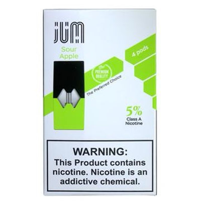 JUM PREFILLED REPLACEMENT COMPATIBLE PODS 5% NIC- DISPLAY OF 8