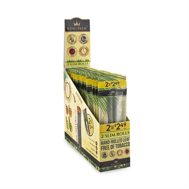 KING PALM 2 SLIM ROLLS (2 for $ 2.49) 20-Pouches Per Display Box