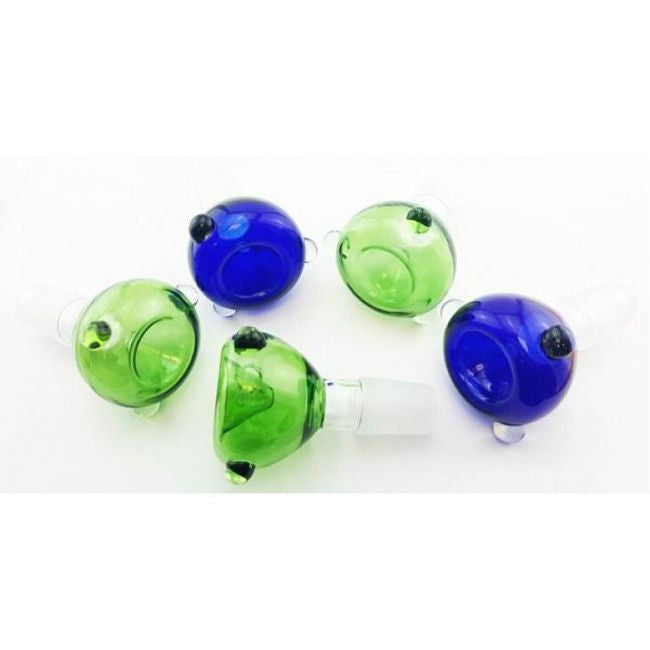 FANCY DRY HERB BOWL 18MM MALE ASSORTED COLOR  (FBOWL18M)