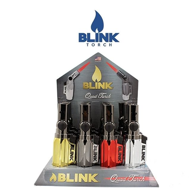 BLINK QUAD TORCH 4 FLAME DISPLAY OF 12CT