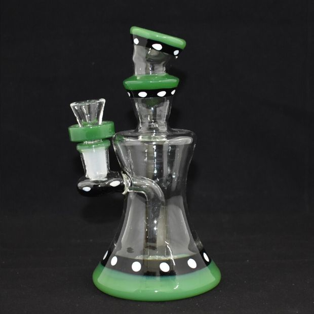 AMERICAN MADE SMALL WATERPIPE WITH SHOWER HEAD ATTACHED 14MM MALE BOWL. (WP379)