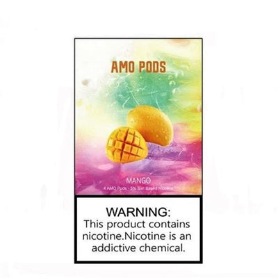 AMO PODS 5% SALT NICOTINE 1ML PREFILLED COMPATIBLE PODS DISPLAY OF 10PACK